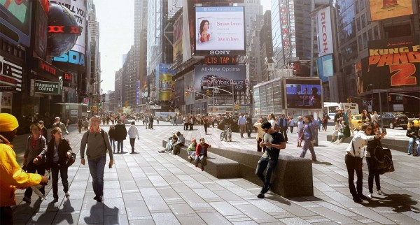 Snøhetta has currently concluded the first phase of a major overhaul of New York's Time Square. Photo: Snøhetta.