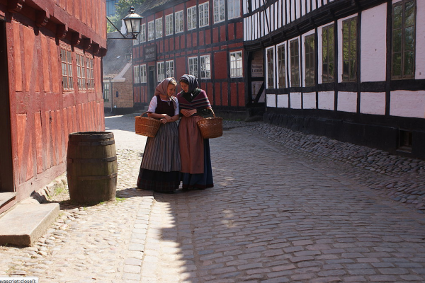 The Old Town - the world's first open air museum (photo: Den Gamle By)