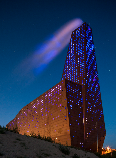 The Energy Tower (Roskilde, Denmark) won in the category 'animated architecture (photo: Time Van De Velde)